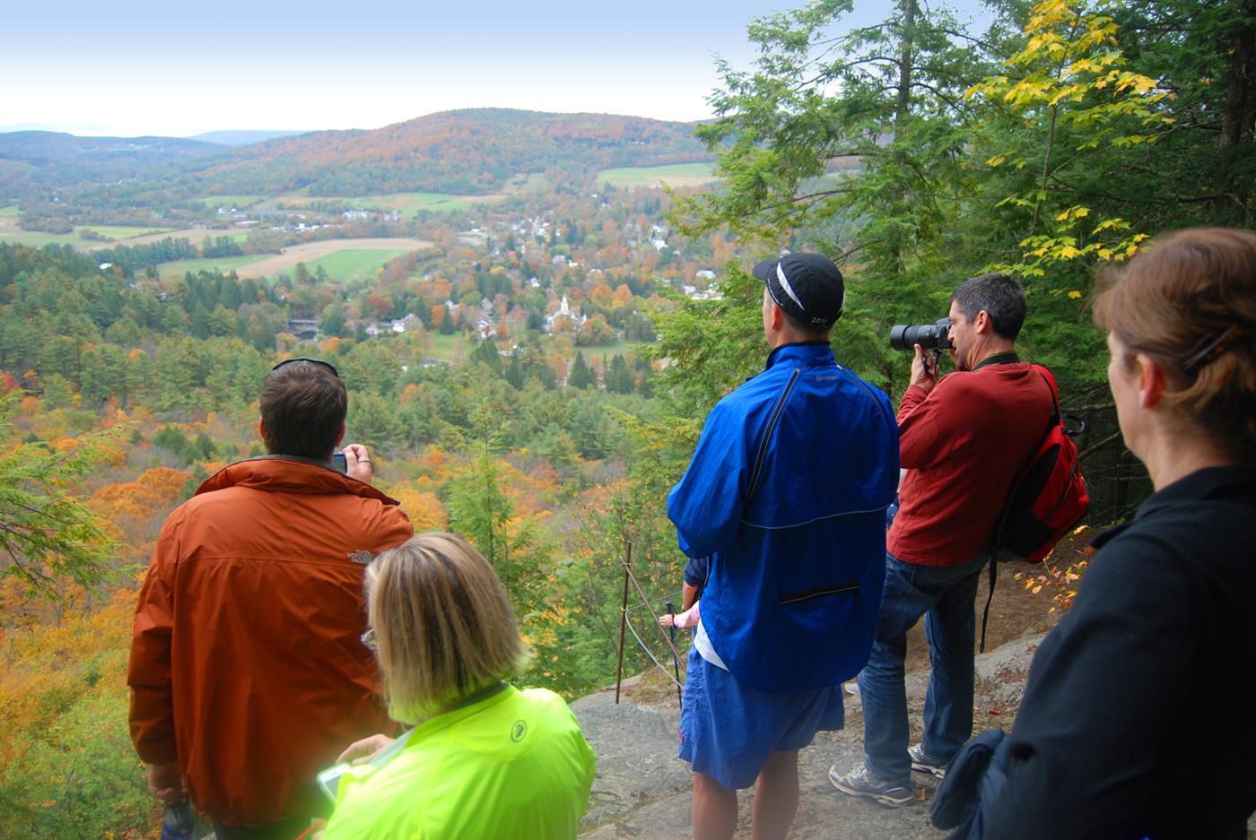 vermont hiking walking tour
